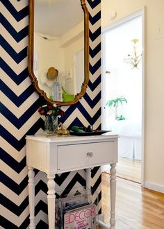 Statement wall, love anything Chevron