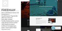 Freeman - Responsive One Page Wordpress Theme #onepagewordpress #wordpresstheme Live Preview and Download: http://themeforest.net/item/freeman-responsive-one-page-wordpress-theme/9520241?ref=ksioks