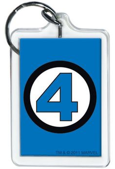 Marvel Comics Fantastic Four Logo Keychain