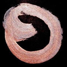 in the flatbed/of the wrecker/peach petals  (haiku and enso by susan)