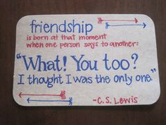 look what i made. index card quote time.