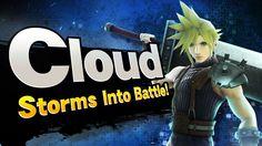 Super Smash Bros. - Cloud Storms into Battle! Final Fantasy Vii, Cloud Super Smash Bros, Smash Bros Wii, High Clouds, College Humor, Cloud Strife, Mega Man, Wii U, Battle