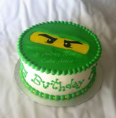 Lego Ninjago Birthday Cake by The Cake Chic, via Flickr caleb and ethan