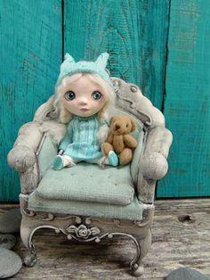 Tiny  OOAK miniature art doll by Marina by Marinart on Etsy, $120.00