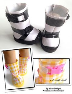 ad7ef817de Spring Shower Rain Boots 18 inch Doll Shoes PDF Pattern Download
