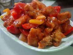 Közkívánatra! :) -Kínai édes-savanyú csirkemell a kínai ételek kedvelőinek! Poultry, Bacon, Paleo, Pork, Chinese, Chicken, Ethnic Recipes, Kale Stir Fry, Backyard Chickens