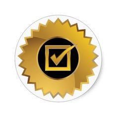 Checkmark Approval Stamp Sticker