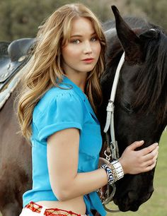Jennifer Lawrence with one lucky stud.  :)