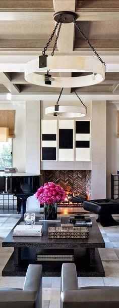 The living room can be described as modern luxury. | bocadolobo.com/ #livingroomideas #livingroomdecor