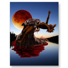 Shop Bunyip Postcard created by cryptozoologyshop. Curious Creatures, Mythical Creatures, Legendary Monsters, The Ancient One, Timorous Beasties, Native Australians, Cryptozoology, Urban Legends, Interesting History