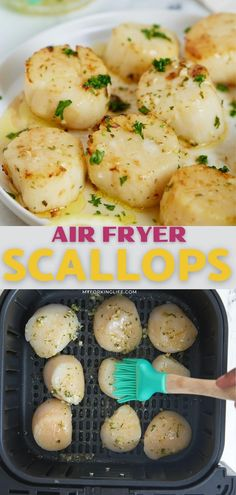 Quick and easy to make with a few simple ingredients, these air fryer scallops are perfect to serve as a sit down appetizer or light meal. Perfectly seared and seasoned with a herb, lemon and garlic butter, these are the real deal!