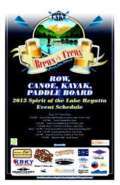 Annual Spirit of the Lake Regatta and Brews & Crews Festival . . . www.stayingrandlake.com #Festivals #Regatta #BrewFest #GrandLake #Colorado