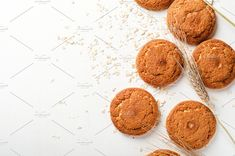 Oatmeal cookies with oat flakes by Mellisandra on @creativemarket