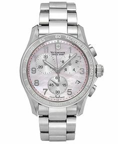 Victorinox Swiss Army Watch, Women's Chronograph Stainless Steel Bracelet 41mm 249052