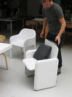 BIG outdoor armchair for Gandia Blasco, making of  ©2012 Stefan Diez Office www.diezoffice.com Dining Arm Chair, Wood Working, Armchair, Sketches, Study, Inspiration, Furniture, Design, Home Decor
