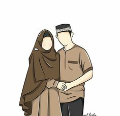 Couple Cartoon Pictures, Wedding Couple Cartoon, Cute Drawings Of Love, Couple Drawings, Romantic Couple Images, Romantic Couples, Best Couple Quotes, Cute Love Images, Cute Muslim Couples