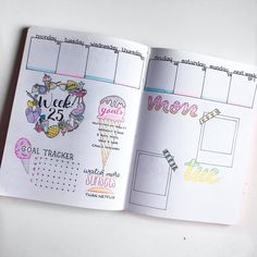 Summer Weekly Spread in my bullet journal