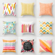 Society6 - Throw Pillow Favorites | inspiration.sparks: Society6 - Throw Pillow Favorites