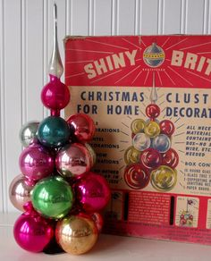 Vintage Shiny Brite glass Christmas ornament centerpiece by oodles