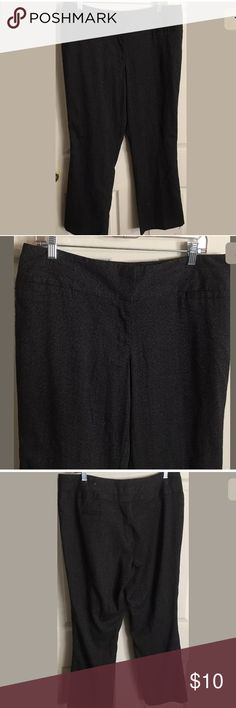 """Maurice's Black Dress Pants Sz 11/12 Short Maurice's dress pants size 11/12 short in excellent used condition.  No stains, tears or rips.  Please see pictures and ask any questions before purchasing.  Measurements: Waist: 18"""" Inseam: 29"""" Maurices Pants Trousers"""
