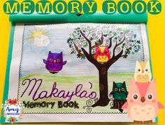 Memory Book Owl Theme - Just print and teach, you deserve it!