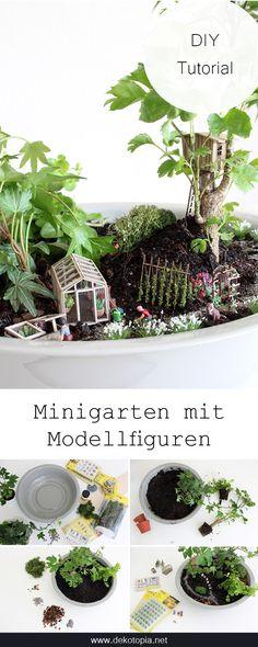 Gestalte Deinen Eigenen Minigarten mit echten Pflanzen und Modellfiguren! Ich zeige Dir, wie es funktioniert.