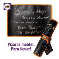 Recomiendo Pizarra mantel para llevar, de hule estampado Drawing. Por un lado es mantel y por el otro pizarra para dibujar con tizas.@arethaju #juntospodemos  www.arethaju.com
