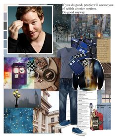 """""""`WHOvian for [life]"""" by mars-phoenix ❤ liked on Polyvore featuring American Eagle Outfitters, Uniqlo, Converse and Scosha"""