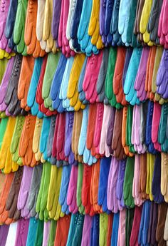 Pairs of Gloves in a Rainbow of Colour ....