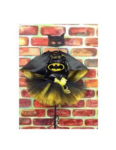 Batgirl tutu costume, Batman tutu, Batman birthday tutu, Super hero Birthday, batgirl tutu by parisianbridal on Etsy
