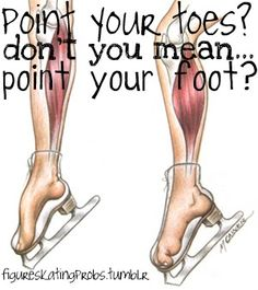 No kidding, way harder to point your toes in skates!