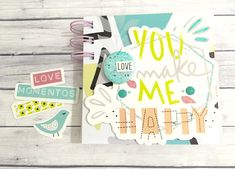 "MINI ALBUM - Penknives Design: Mini álbum ""You make me happy"""