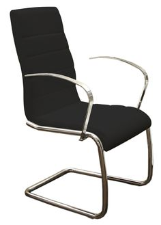 Casabianca AVENUE Black Eco-leather Dining Chair