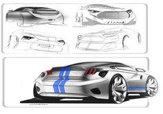 Ford mustang, concept car sketch naman www.protodes.blogspot.com