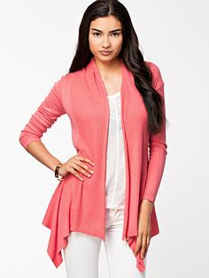 Walkover Cardigan - Soaked In Luxury - Hibiscus - Jumpers & Cardigans - Clothing - Women - Nelly.com Uk