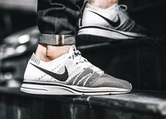 Nike flyknit trainer+ white/black by tomshepherd launch your own makeup lin Buy Sneakers, Air Max Sneakers, Sneakers Fashion, Reebok, Nba, Nike Flyknit Trainer, Nike Runners, Adidas, Sneaker Boots