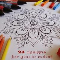 adult coloring pages. cuz sometimes you just feel like coloring :)