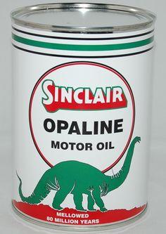 SINCLAIR OPALINE MOTOR OIL CAN METAL 32 FL. OZ.