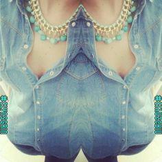 Outfit total denim! Camicia di Pimkie e pantaloni di h&m. Che comodità i jeans! :)