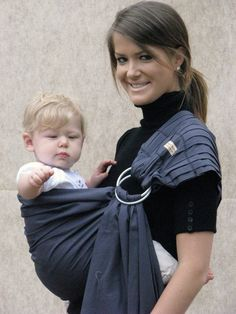 Baby Carrier Ring Sling Baby Sling -Slate Grey -FAST SHIPPING - Instructional DVD Included by SnuggyBaby on Etsy https://www.etsy.com/ca/listing/62149563/baby-carrier-ring-sling-baby-sling-slate