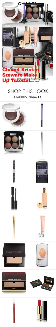 """Chanel Kristen Stewart Make Up Tutorial"" by oroartye-1 on Polyvore featuring beauty, Chanel, Estée Lauder, Urban Decay, Yves Saint Laurent, Christian Dior, Laura Mercier, Kevyn Aucoin, Barry M and Lipsy"
