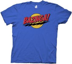 Big Bang Theory Bazinga! Superman Men's Tee, Blue, XL