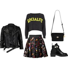 Socialite Girl Look by frontrowblog, via Polyvore