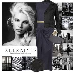 """AllSaints Spring/Summer Collection"" by nikkeeb ❤ liked on Polyvore"