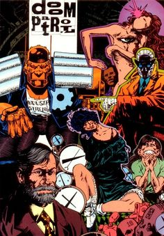 Morrison's Doom Patrol.  Cliff Steele, the Chief, Crazy Jane, Rebis, Dorothy Spinner, Rhea Jones.