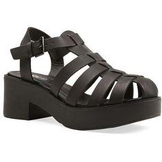 BERMUDA HEEL (1.425 UYU) ❤ liked on Polyvore featuring shoes, sandals, chunky heel platform sandals, light weight shoes, platform sandals, chunky heel shoes and thick heel platform sandals