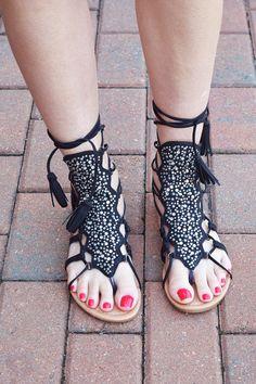d1d8db0fb1d Black Sparkle Lace Up Gladiator Sandals Lace Up Gladiator Sandals