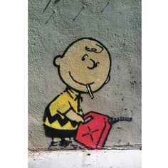 """Charlie Brown, Smoking with Gas"" // Banksy for sale (!?) @ $49"