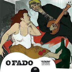 """2012 O Fado de José Malhoa 100 Anos 13 [Tugaland/A Bela e o Monstro] ilustração: S.J. Frank """"Ao Cais da Rocha"""" #albumcover #illustration #fado #music"""