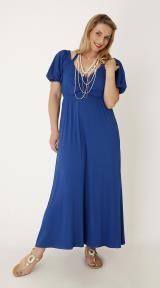 μπλε μακρύ φόρεμα
